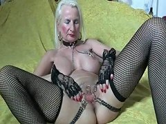 I Am Pierced Granny With Pussy Piercings And Chains